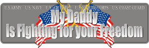 Daddy Fighting for Freedom Decal