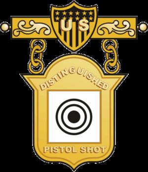 Distinguished Pistol Shot Badge Decal