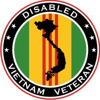 Disabled Vietnam Veteran Decal