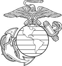 USMC Eagle Globe Anchor (Black/White) Decal