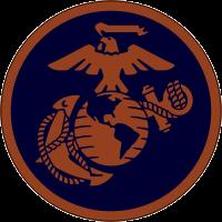 USMC Logo (Red on Blue) Decal