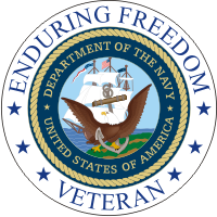 Enduring Freedom Veteran (2) Navy Decal