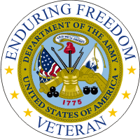 Enduring Freedom Veteran (2) Army Decal