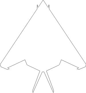 Lockheed F-117 Nighthawk Vector Silhouette (White) Decal