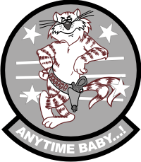 F14 Anytime Baby (Gray) Decal