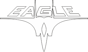 F-15 Strike Eagle Helmet Insignia with Text (White) Decal