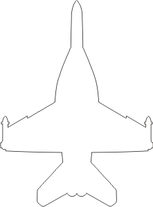 McDonnell Douglas F-18 Silhouette (White) Decal