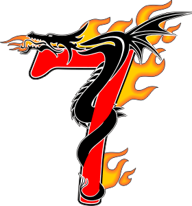 Flaming Dragon 7 Decal