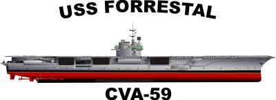 Forrestal Class Aircraft Carrier Decal