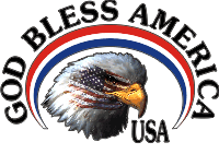 God Bless America - Masked Eagle (Black Text) Decal