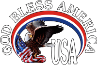 God Bless USA (White Text) Decal