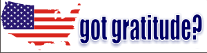 Got Gratitude Bumper Sticker 4 (Map) Decal