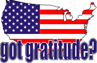 Got Gratitude Map 1 (Blue Letters) Decal