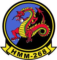 HMM-268 Marine Medium Helicopter Squadron (v2) Decal