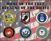 Home of the Free Flag Decal