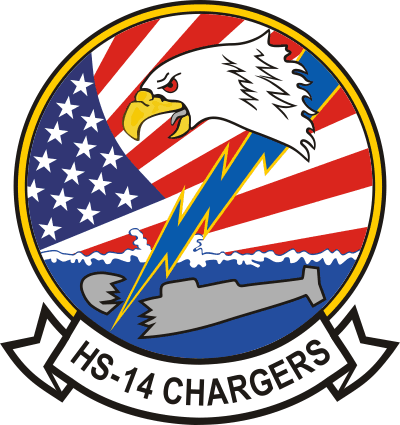 HS-14 Helicopter Anti-Submarine Squadron 14 Chargers Decal
