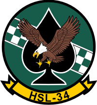HSL-34 Helicopter Anti-Sub Squadron 34 Light Green Checkers Decal