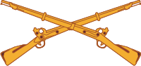 Infantry (Gold) Decal