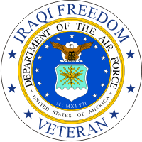 Iraqi Freedom Veteran (2) Air Force Decal
