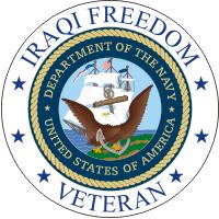 Iraqi Freedom Veteran (v2) Navy Decal