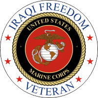 Iraqi Freedom Veteran (v2) USMC Decal