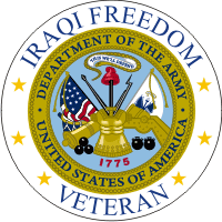 Iraqi Freedom Veteran (2) Army Decal