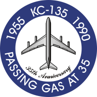 KC-135 35th Anniversary Decal