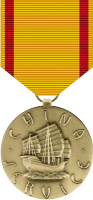 China Service Medal Decal