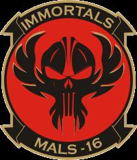 MALS-16 Marine Aviation Logistics Squadron 16 Immortals Decal