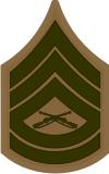 E-7 GYSGT Gunnery Sergeant (Khaki) Decal