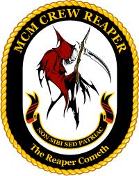 Mine Counter Measures MCM Crew Reaper Decal