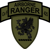 Michigan Army National Guard – Company F Airborne Rangers 425th Infantry Decal