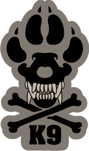 Military Working Dog K-9 Decal