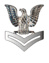 E-5 Petty Officer Second Class Pin Decal