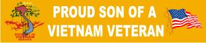 Proud Son of a Vietnam Veteran (1) Decal