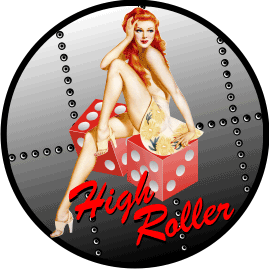 Casino Girl High Roller Decal