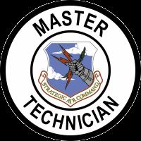 Strategic Air Command Master Technician Decal