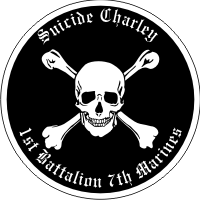 1st Battalion 7th Marines Suicide Charley Decal