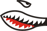 Shark Teeth & Eye (Right) Decal