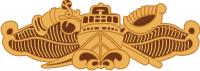 Special Warfare Combat Craft Crewman Badge (Gold) Decal
