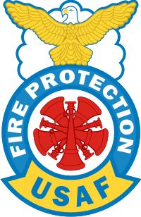 USAF Fire Protection - Chief Decal