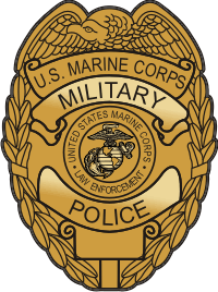 USMC MP Badge (Gold) Decal