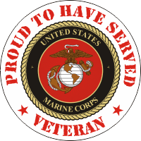USMC Proud to have Served Decal