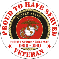 USMC Proud to have Served Desert Storm-Gulf War Decal