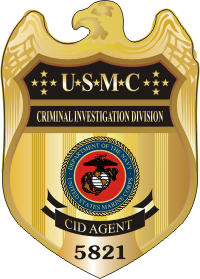USMC CID Badge (Color) Decal