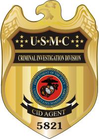 USMC CID Badge (Color) Decal