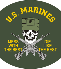 USMC Mess with the Best Decal