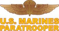 USMC Paratrooper Decal