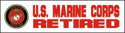 U.S. Marine Corps Retired Decal
