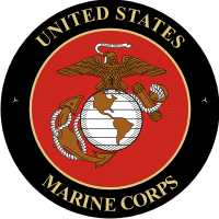 USMC Seal (3) Black Background Decal